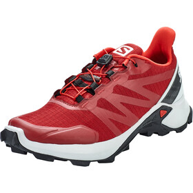 Salomon Supercross Shoes Men red dahlia/pearl blue/black